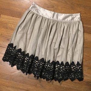 Darling Cream & Black Mini Skirt 004